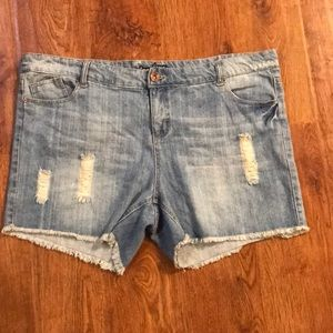 Forever 21+ Distressed Jean Shorts